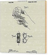 Bare Ball Curver 1909 Patent Art Wood Print