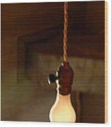 Bare Bulb Swinging Wood Print