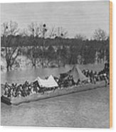 Barge Loaded With Poor African American Wood Print