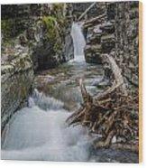 Baring Creek Waterfall And Rapids Wood Print
