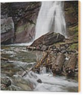 Baring Falls In Spring Wood Print