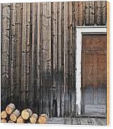 Barkerville Back Porch Wood Print by Calvin Wray