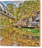 Barkshed Creek Bridge Wood Print