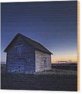 Barn At Sunset, Fort Saskatchewan Wood Print