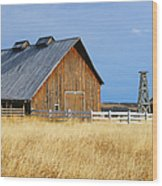 Barn In Calgary Wood Print