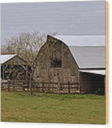 Barn In The Ozarks Wood Print by Marty Koch