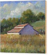 Barn On Lakeville Highway Wood Print