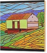 Barn On Springhill Road Wood Print
