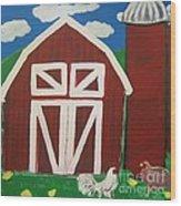 Barn On The Farm Wood Print