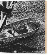 Barnacle Boat Wood Print