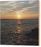 Barnagats Sunrise Wood Print