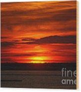 Barnegat Bay Sunset Wood Print