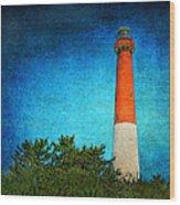 Barnegat Light Wood Print by Pat Abbott