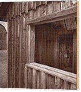 Barns Grand Tetons Wood Print
