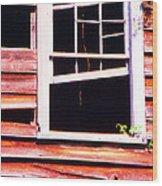 Barnwindow Wood Print