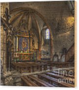 Baroque Church In Savoire France 2 Wood Print