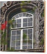 Baroque Style Window Wood Print