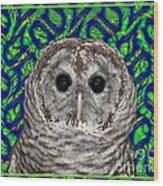 Barred Owl In A Fractal Tree Wood Print