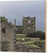 Barred Windows And Stone Ruins At Port Wood Print by Jason Edwards