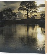 Barrie Harbour Sunrise Wood Print