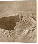 Barringer Crater Wood Print