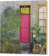 Barrio Door Pink And Gray Wood Print