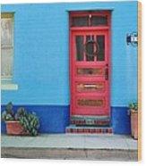 Barrio Door Pink Wood Print