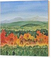 Barton Vermont Autumn Wood Print