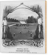 Baseball, 1861 Wood Print
