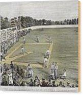 Baseball, 1866 Wood Print