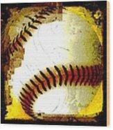 Baseball Abstract Wood Print