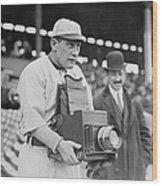 Baseball: Camera, C1911 Wood Print