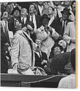 Baseball Crowd, 1962 Wood Print