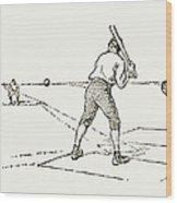 Baseball Game, 1889 Wood Print