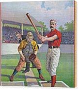 Baseball Game, C1895 Wood Print