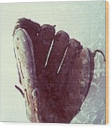 Baseball Glove Vertical Wood Print