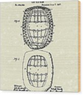 Baseball Mask 1887 Patent Art Wood Print by Prior Art Design