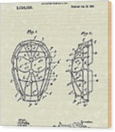 Baseball Mask 1912 Patent Art Wood Print by Prior Art Design