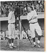 Baseball Players, 1920s Wood Print