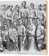 Baseball Teams, 1866 Wood Print by Granger