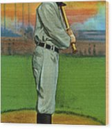Baseball. Ty Cobb Baseball Card Wood Print by Everett