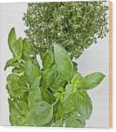 Basil And Thyme Wood Print by Joana Kruse