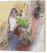 Basil Delivery In Eze France Wood Print