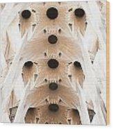 Basilica De La Sagrada Familia In Barcelona Wood Print
