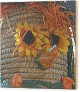 Basket Head Wood Print