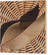 Basket Of Brown Wood Print