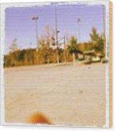 #basketball 🏀❤ Gonna Shoot Around Wood Print by Nena Alvarez