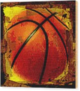 Basketball Abstract Wood Print by David G Paul