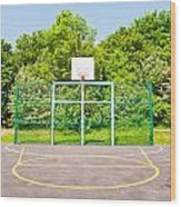 Basketball Court Wood Print by Tom Gowanlock