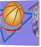 Basketball Wood Print